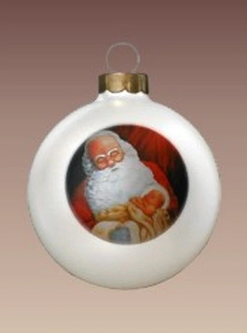 Weeping Santa Ornament