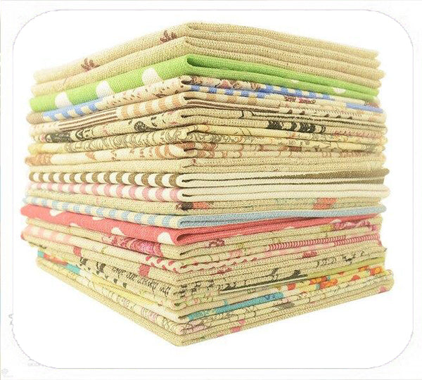 Lotto 10 Pz Cotone 20x20 fantasie assortite