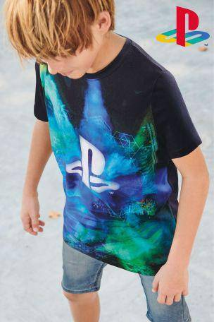 PLAYSTATION SPLAT T-SHIRT (3-12YRS) - Allsport