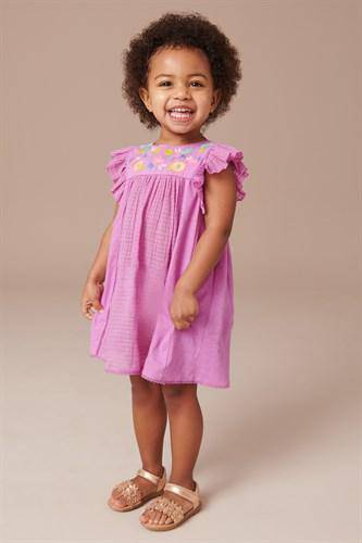 LILAC EMB DAY DRESS (3MTHS-5YRS) - Allsport