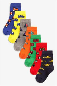 7PK BRIGHT TRANSPORT SOCKS - Allsport