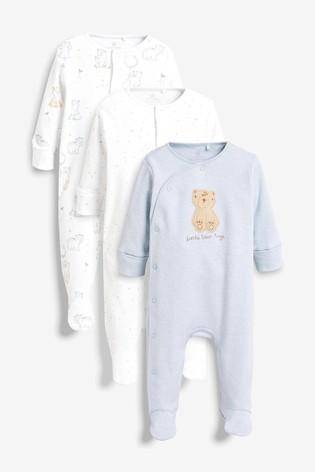 BLUE BEAR SLEEPSUIT (0MTH-9MTHS) - Allsport