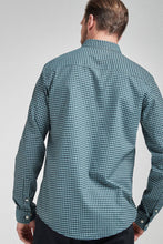 Load image into Gallery viewer, Blue Regular Fit Gingham Long Sleeve Shirt - Allsport