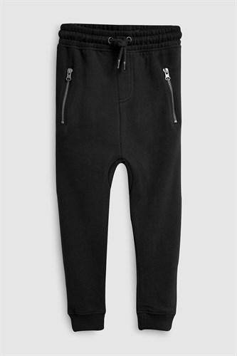 ZIPPY BLACK JOGGERS (3-12YRS) - Allsport
