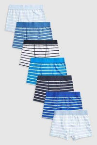 5PK STRIPE BLUES TRUNKS (2-12YRS) - Allsport