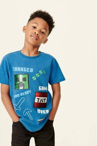 MINECRAFT SEQUIN T-SHIRT LICENSE (4-12YRS) - Allsport