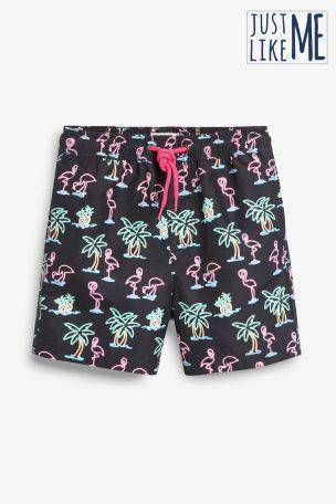 NEON FLAMINGO SHORT (3-11YRS) - Allsport