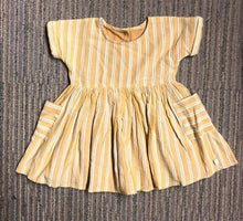 Load image into Gallery viewer, OCHRE STRIPE DRESSES (0-12MTHS) - Allsport