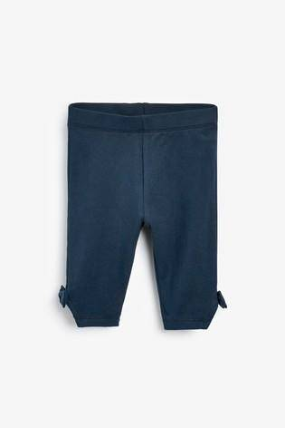 NAVY BOW CROPPED LEGGINGS (3MTHS-5YRS) - Allsport