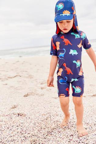NAVY DINO SUNSAFE SWIMWEAR (3MTHS-5YRS) - Allsport