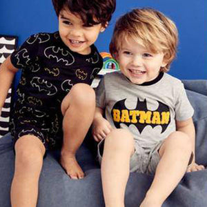 2PK BATMAN SHORT BOYS PYJAMAS (3-6YRS) - Allsport