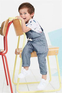 TEXTURE BLUE DUNGAREE (3MTHS-5YRS) - Allsport