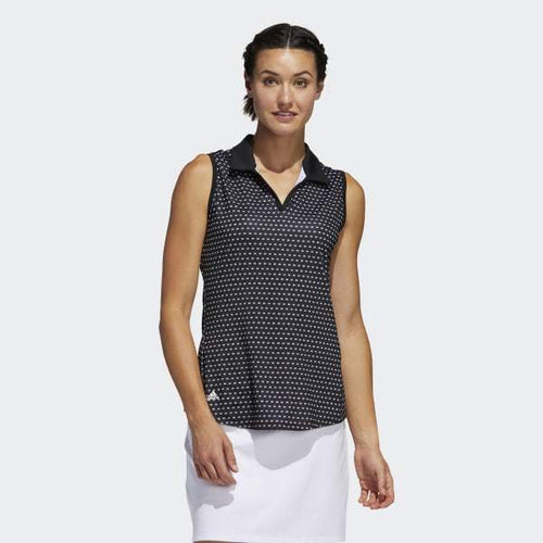 ULTIMATE365 PRINTED SLEEVELESS POLO SHIRT - Allsport