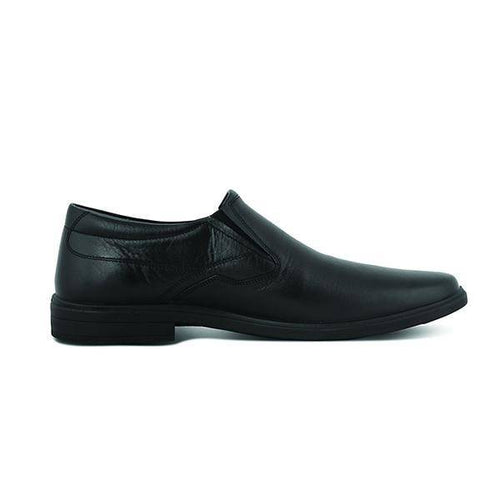 JUNON: Men's Handmade Leather Shoes BLACK - Allsport