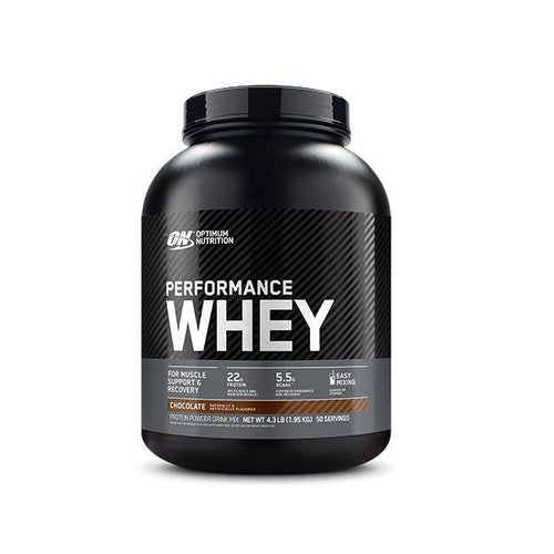 ON Performance Whey Chocolate  4.30 Lbs - Allsport