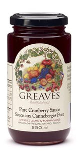 Greaves Pure Cranberry Sauce