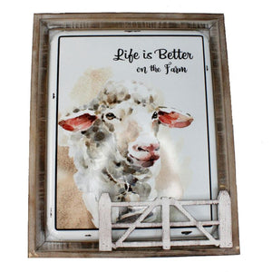 Life Is Better On The Farm Plaque