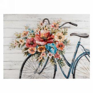 Canvas Wall art - floral bicycle