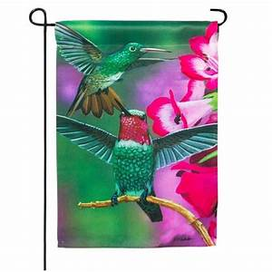 Garden Flag - Hummingbird
