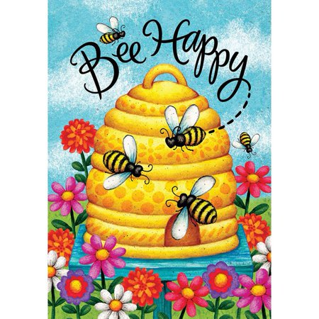 Garden Flag - Bee Happy