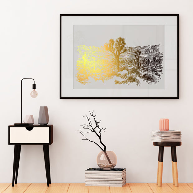Joshua Tree National Park - Gold Foil Art