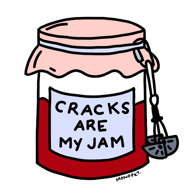 Cracks Are My Jam - Sticker