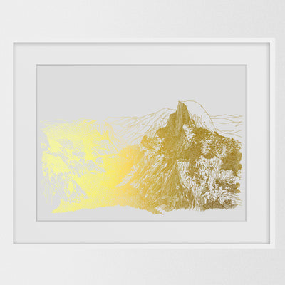Yosemite National Park - Gold Foil Art