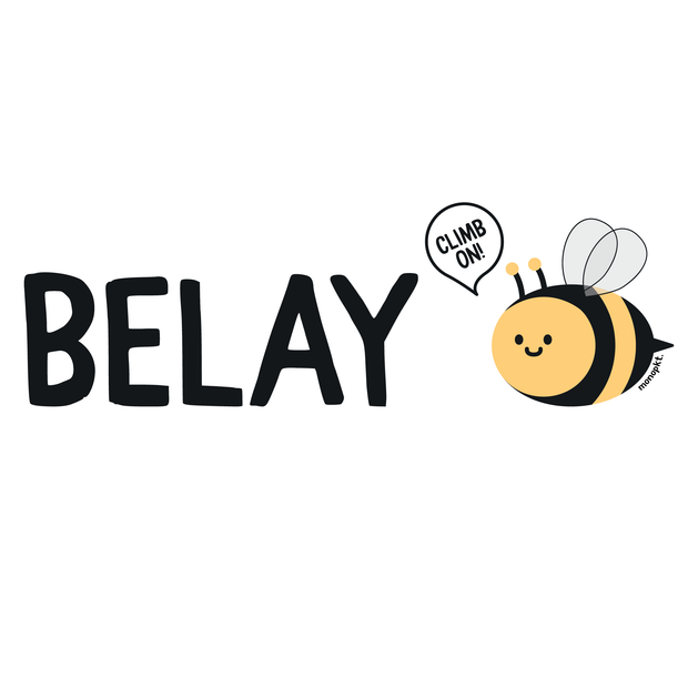 Belay Bee - Sticker