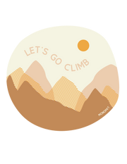 Let's Go Climb - Circle Sticker