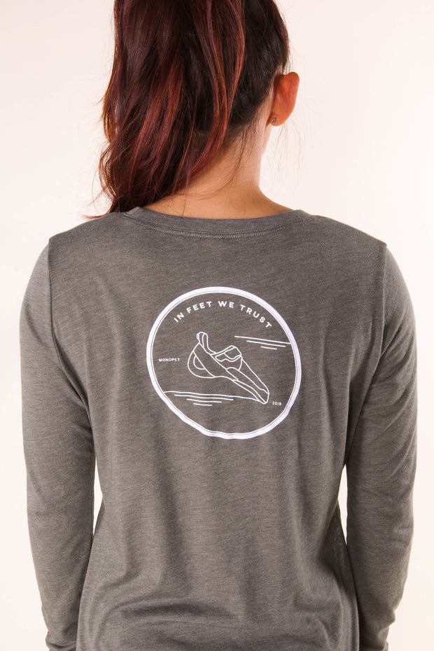 In Feet We Trust - Women's Long-Sleeve Top