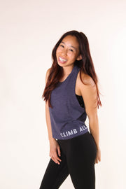 Climb All The Rocks - Women's Cropped Racerback Tank
