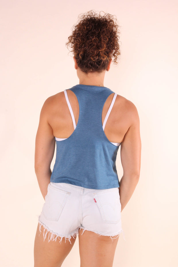 Crimpin' Ain't Easy - Women's Cropped Racerback Tank