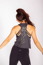 Keep Me Wild  - Women's Cropped Racerback Tank