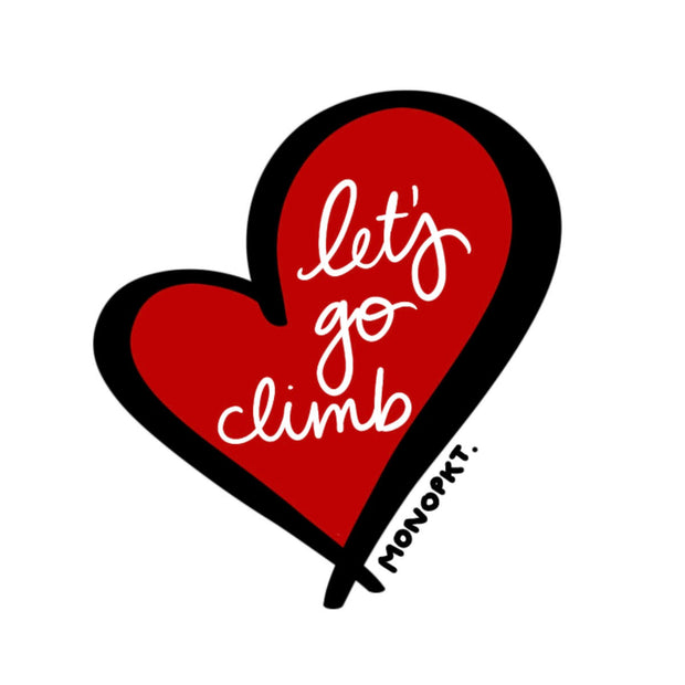 Let's Go Climb - Sticker