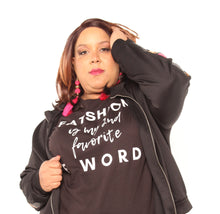 "Load image into Gallery viewer, ""Fatshion is my 2nd Fav F word"" Tee Shirt"
