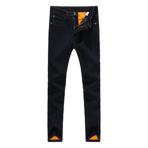 Newly Black Color Smart Casual Winter Jeans For Men