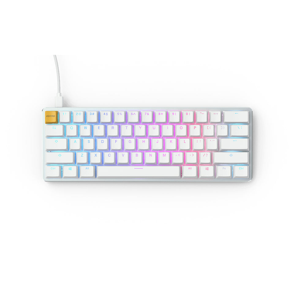 GMMK Compact White Ice - Hotswap Gateron Brown
