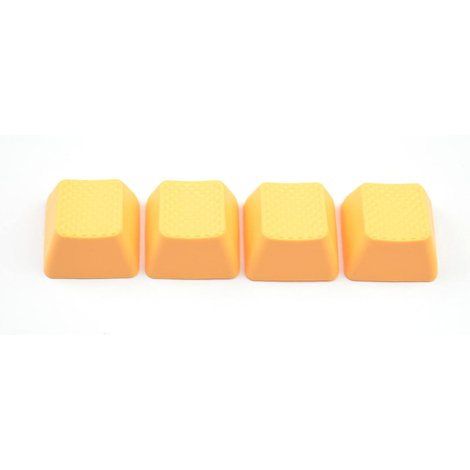 Rubber Keycap Set (4pc) - Blank - Neon Orange
