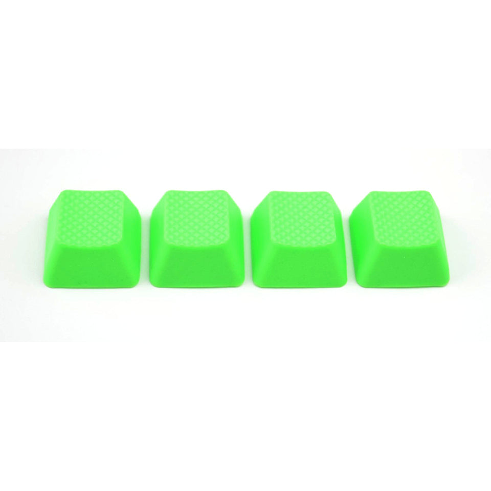 Rubber Keycap Set (4pc) - Blank - Neon Green