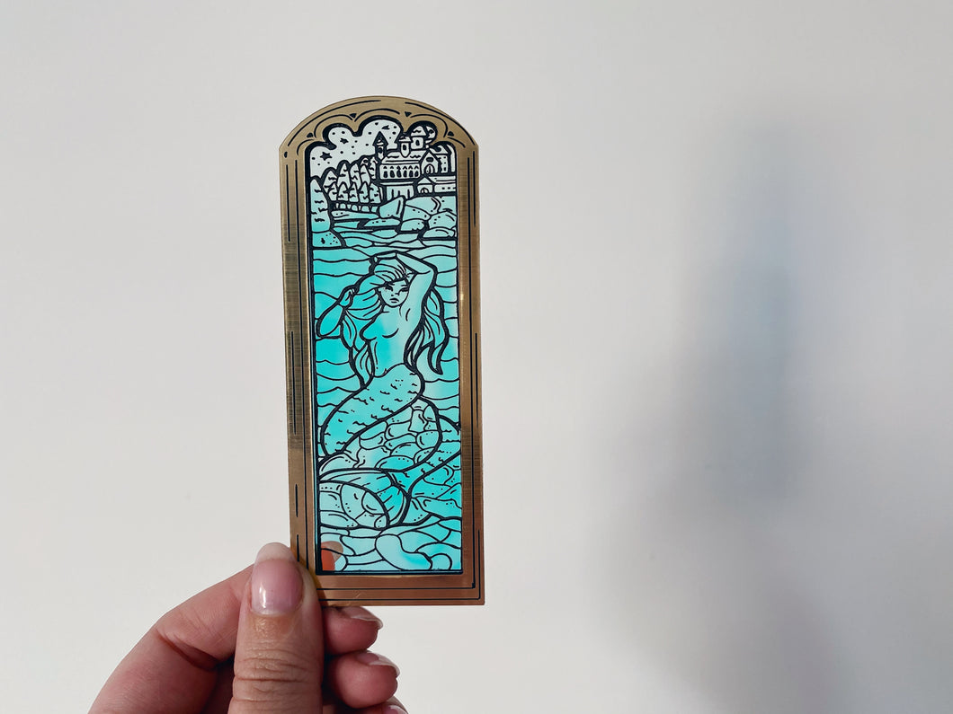 Stained Glass Mermaid Brooch
