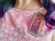 Load image into Gallery viewer, Stained Glass Mermaid Brooch