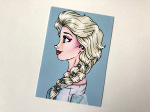 Anna and Elsa Postcard Pair