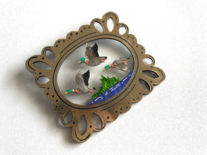 PRE-ORDER Mary's Flying Ducks Brooch
