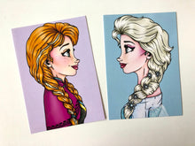 Load image into Gallery viewer, Anna and Elsa Postcard Pair