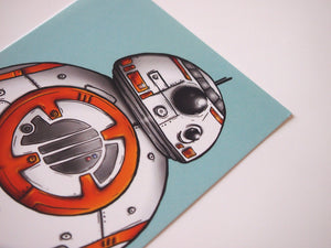 BB-8 Droid - Star Wars - Postcard