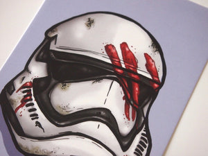 Finn Storm Trooper Helmet - Star Wars - Postcard