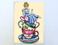 Load image into Gallery viewer, Teacup Cinderella Postcard