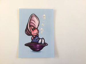 Little Oysters - Alice in Wonderland Postcard