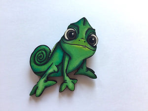Pascal Chameleon from Rapunzel Laser Cut Wood Brooch
