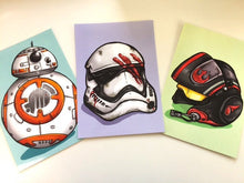 Load image into Gallery viewer, Star Wars - Three Piece Postcard Set